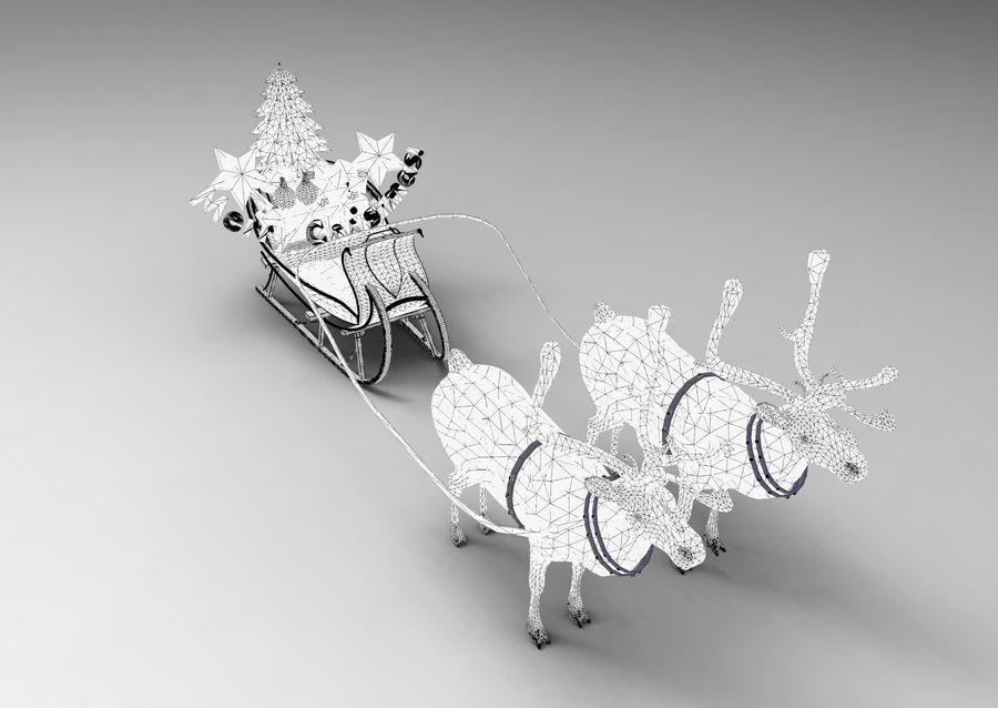 Santa sleigh royalty-free 3d model - Preview no. 16