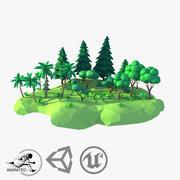 LowPoly Forest Kit geanimeerd 3d model
