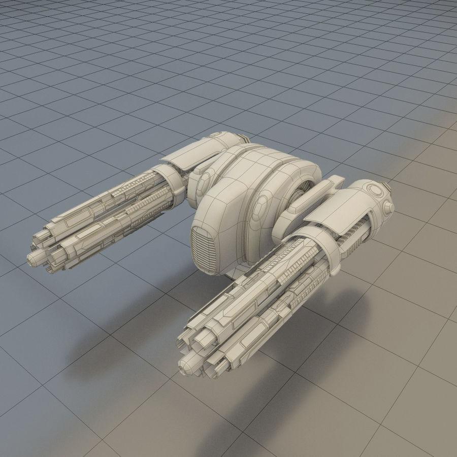 Gunship royalty-free 3d model - Preview no. 6