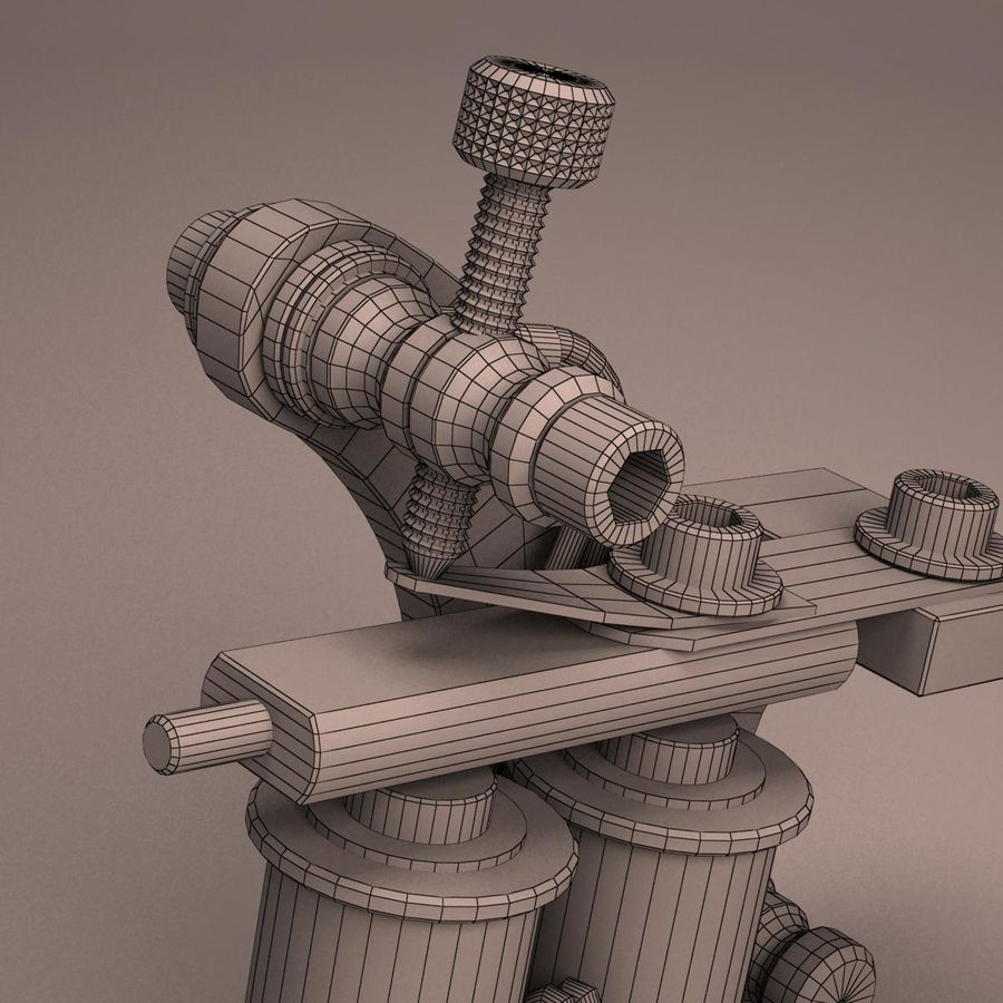 Tattoo Machine liner royalty-free 3d model - Preview no. 20