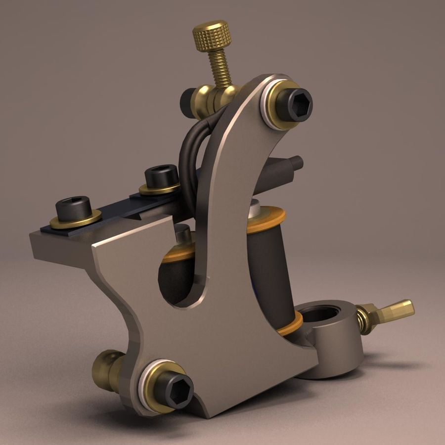 Tattoo Machine liner royalty-free 3d model - Preview no. 5