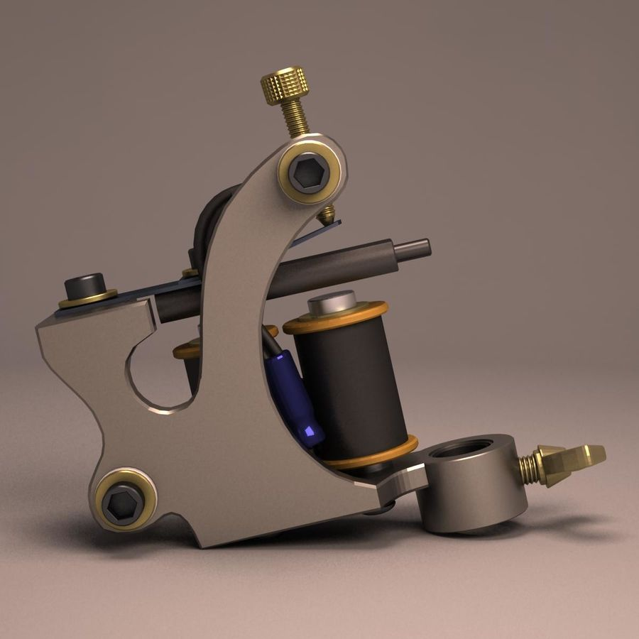 Tattoo Machine liner royalty-free 3d model - Preview no. 7