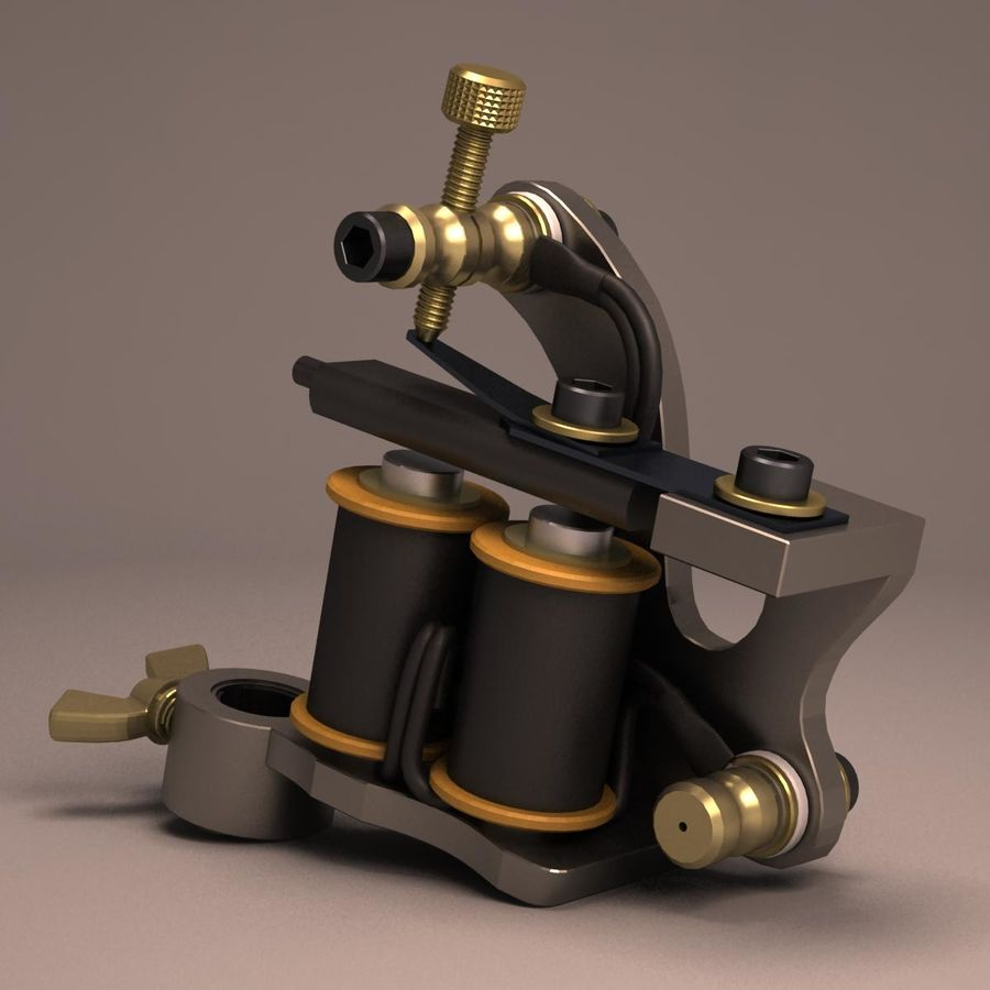 Tattoo Machine liner royalty-free 3d model - Preview no. 4