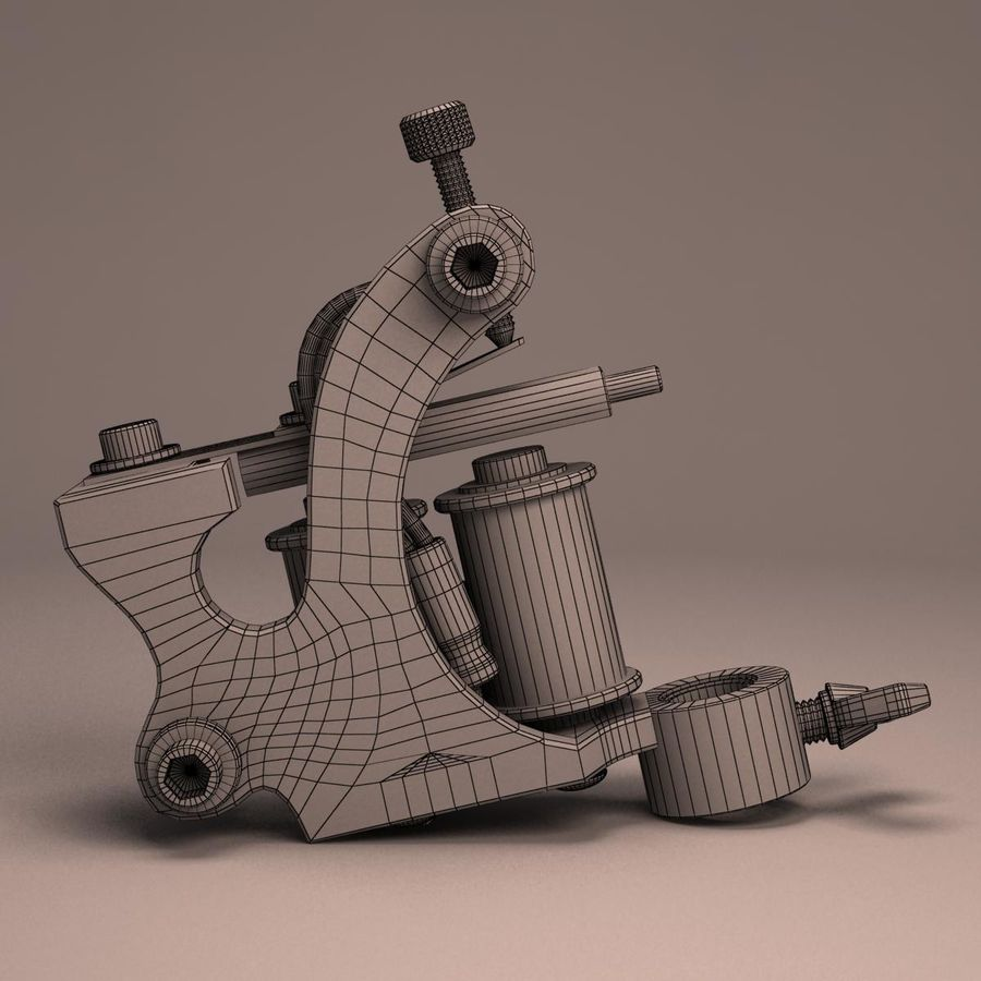 Tattoo Machine liner royalty-free 3d model - Preview no. 17