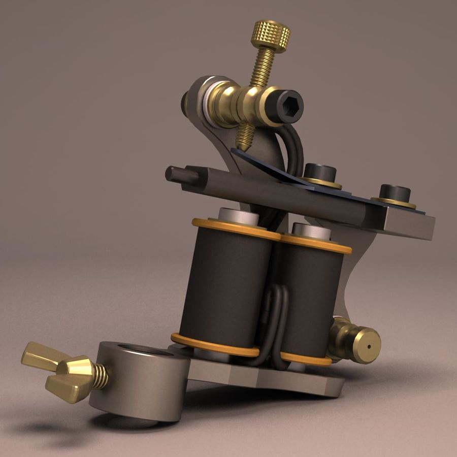 Tattoo Machine liner royalty-free 3d model - Preview no. 1