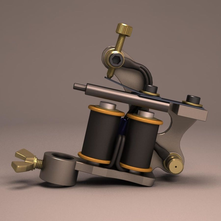 Tattoo Machine liner royalty-free 3d model - Preview no. 12