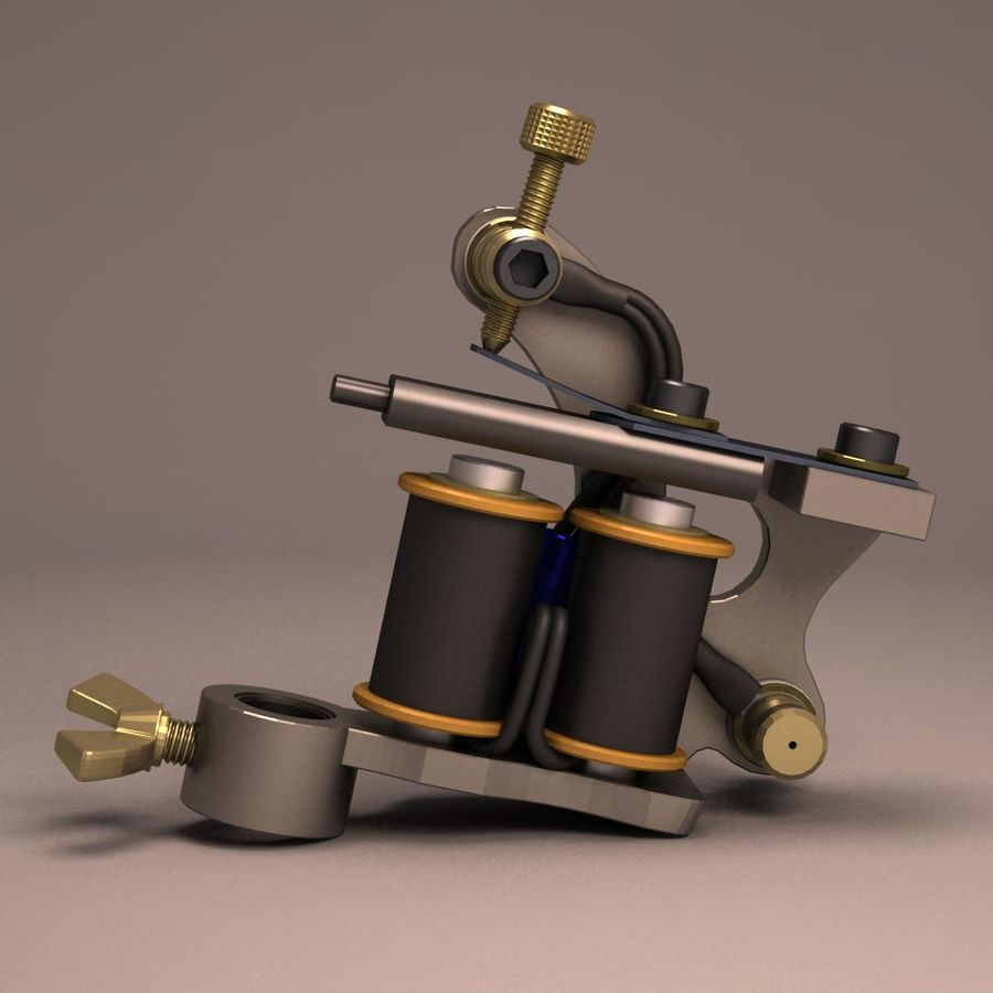 Tattoo Machine liner royalty-free 3d model - Preview no. 2