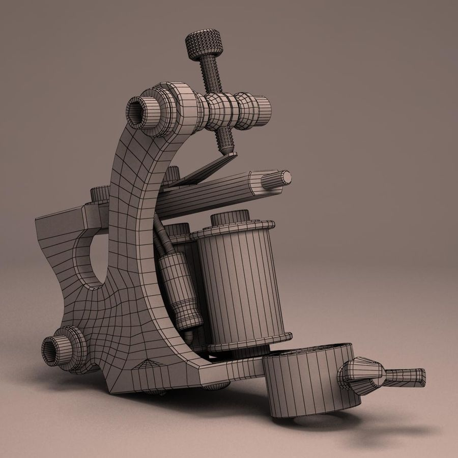Tattoo Machine liner royalty-free 3d model - Preview no. 18