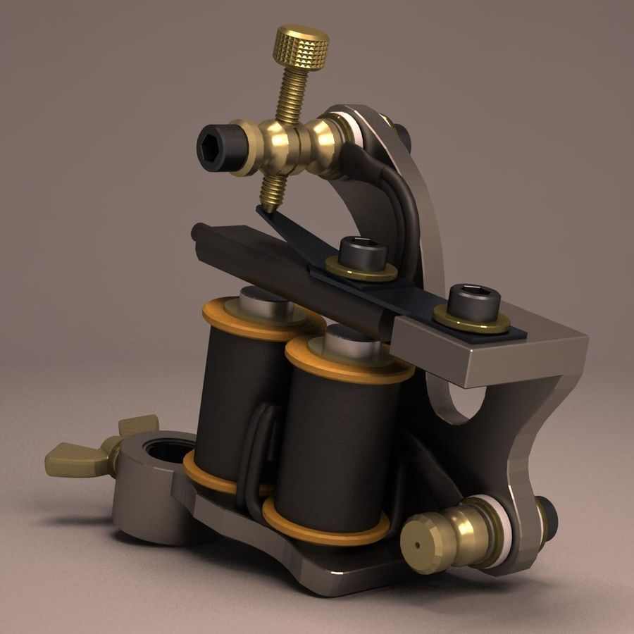 Tattoo Machine liner royalty-free 3d model - Preview no. 3