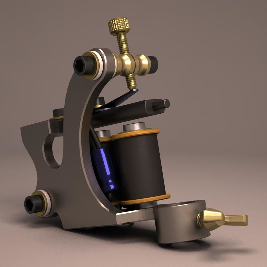 Tattoo Machine liner royalty-free 3d model - Preview no. 8