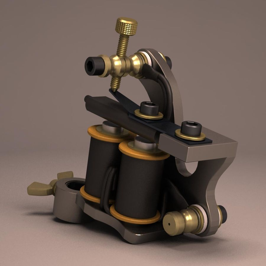 Tattoo Machine liner royalty-free 3d model - Preview no. 11