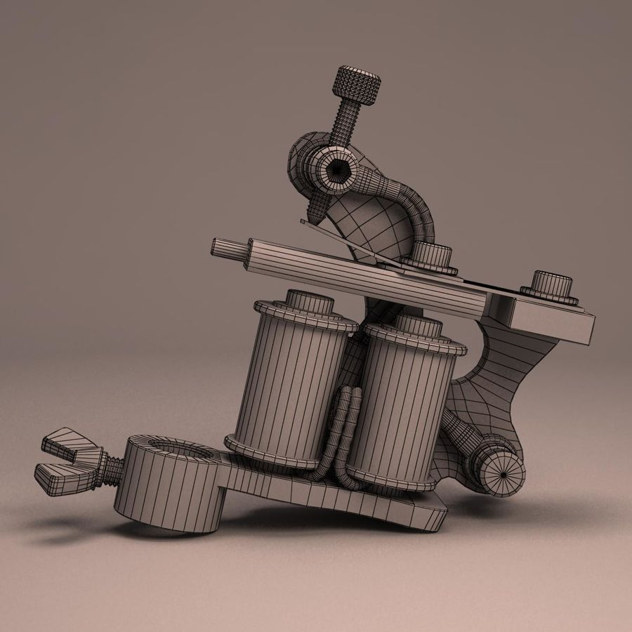 Tattoo Machine liner royalty-free 3d model - Preview no. 14