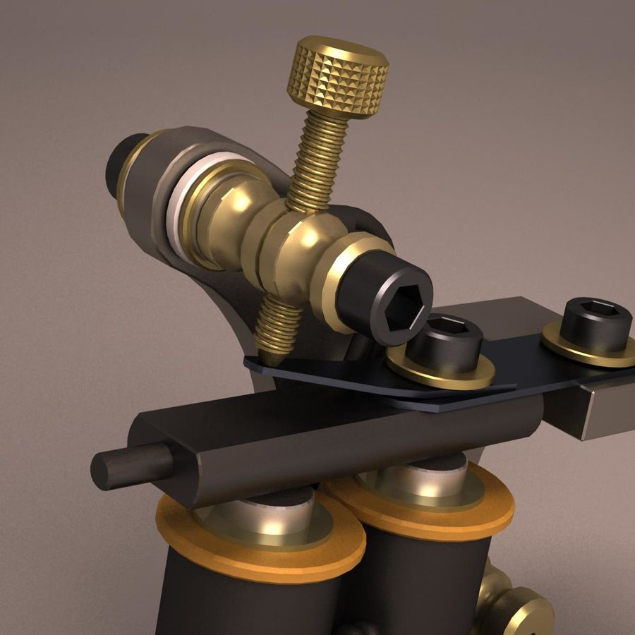 Tattoo Machine liner royalty-free 3d model - Preview no. 10