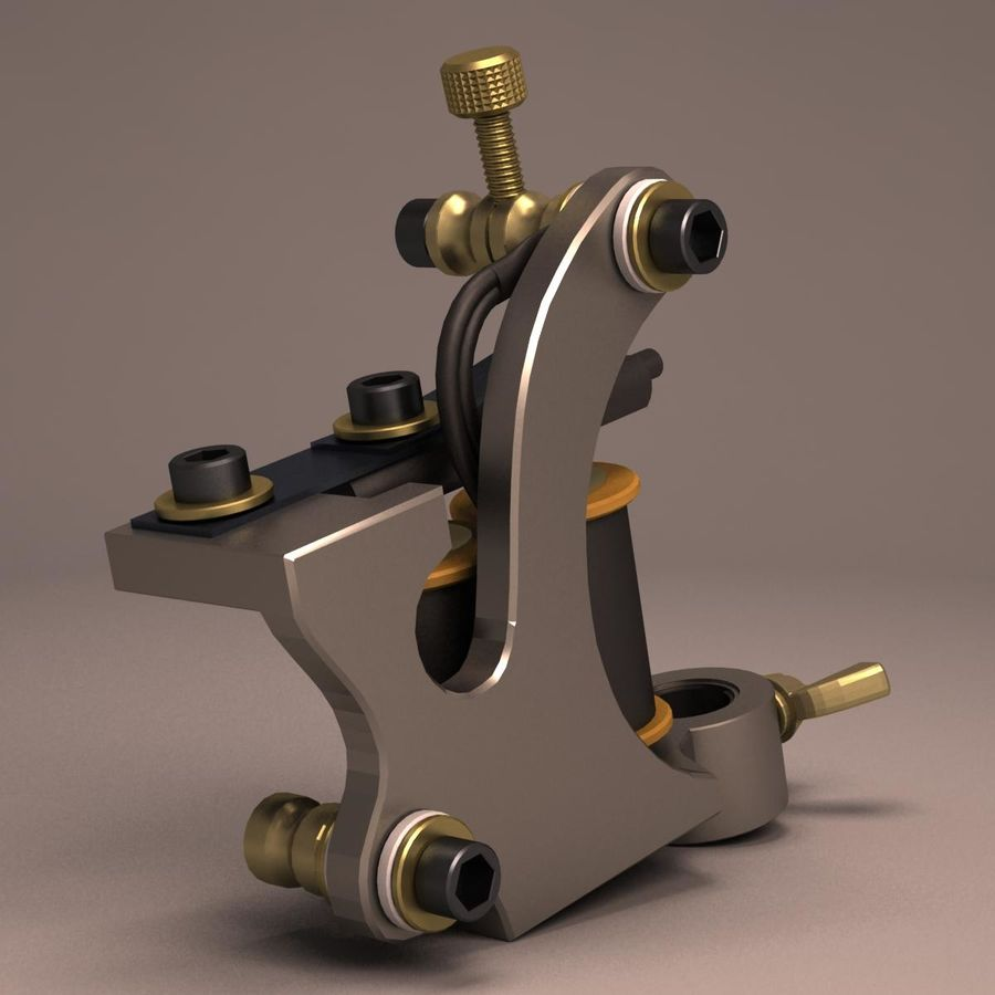 Tattoo Machine liner royalty-free 3d model - Preview no. 6