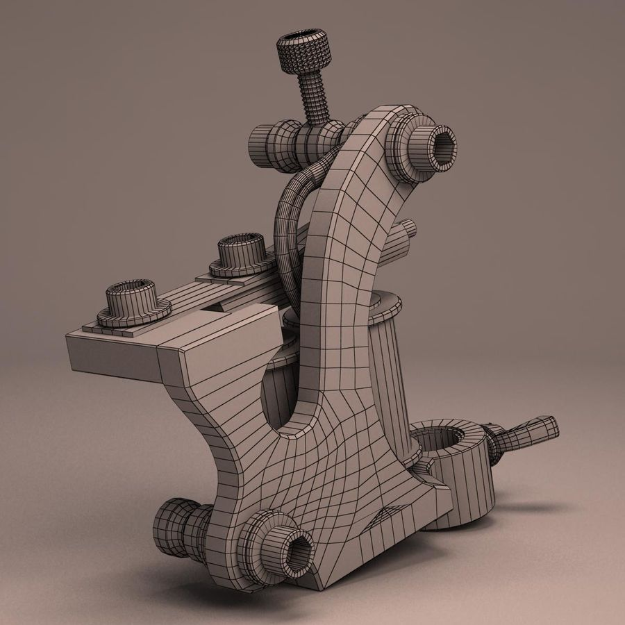 Tattoo Machine liner royalty-free 3d model - Preview no. 16