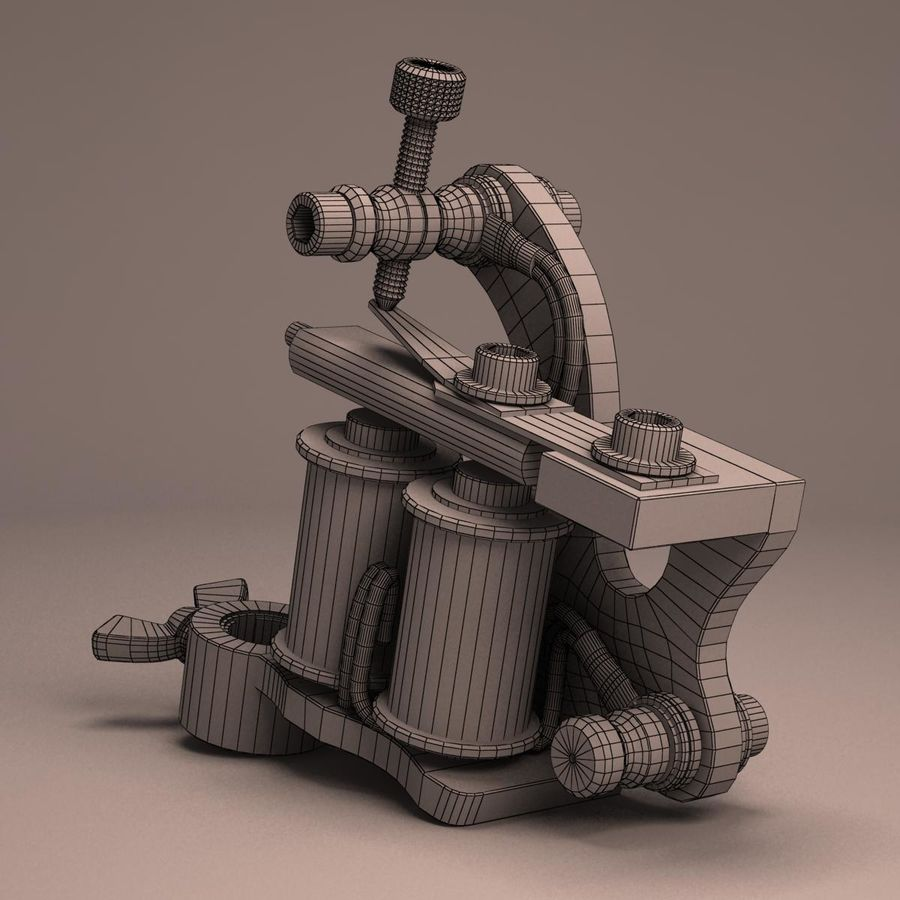 Tattoo Machine liner royalty-free 3d model - Preview no. 15