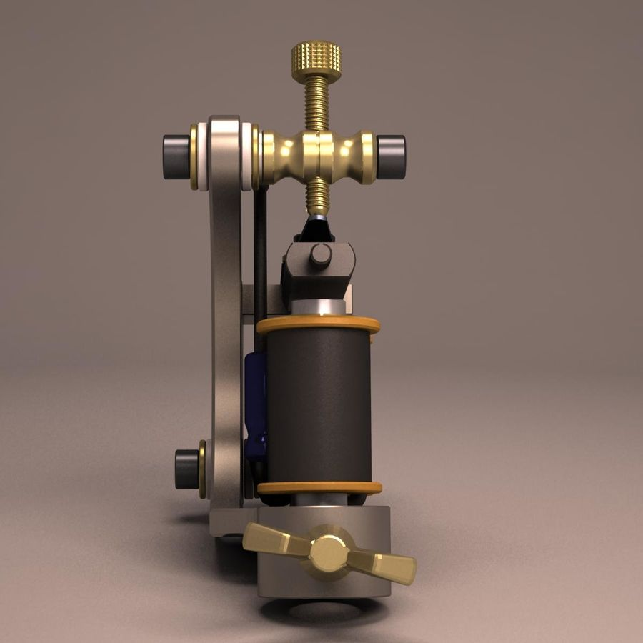 Tattoo Machine liner royalty-free 3d model - Preview no. 9