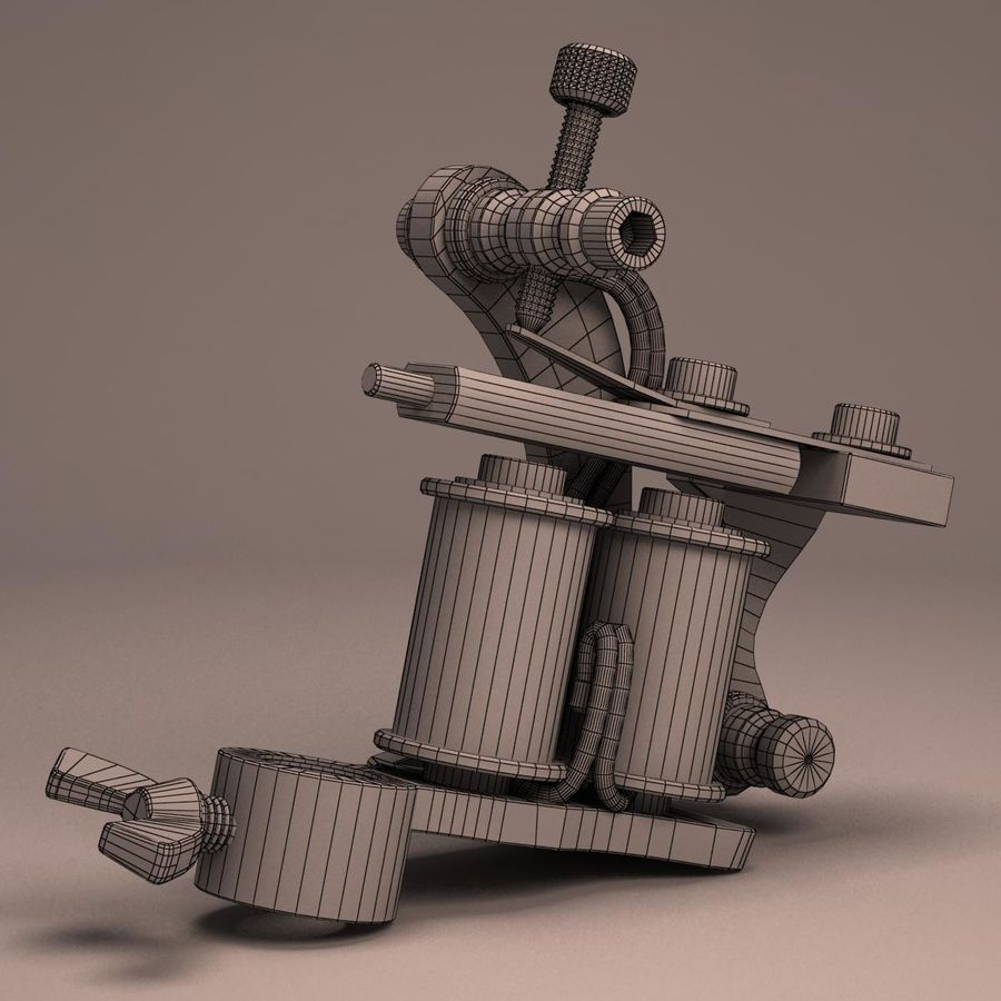 Tattoo Machine liner royalty-free 3d model - Preview no. 13