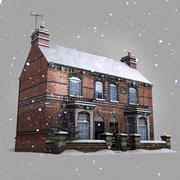 Maison d'hiver en temps réel 3d model