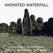 Animerat vattenfall 1 3d model