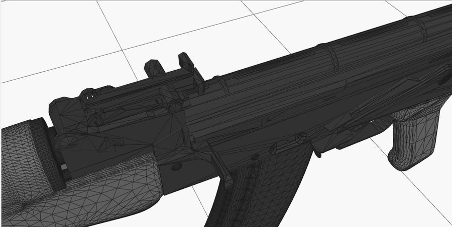 AK 47 royalty-free 3d model - Preview no. 20
