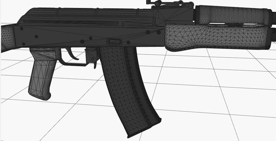 AK 47 royalty-free 3d model - Preview no. 16