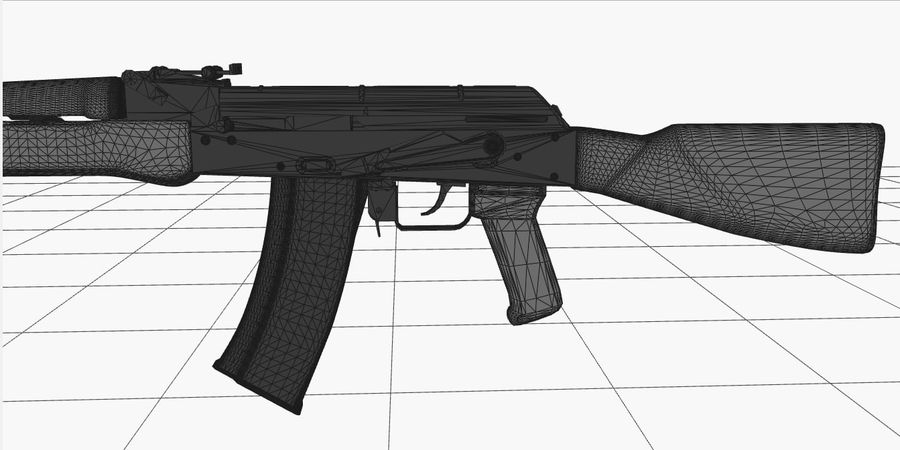 AK 47 royalty-free 3d model - Preview no. 12