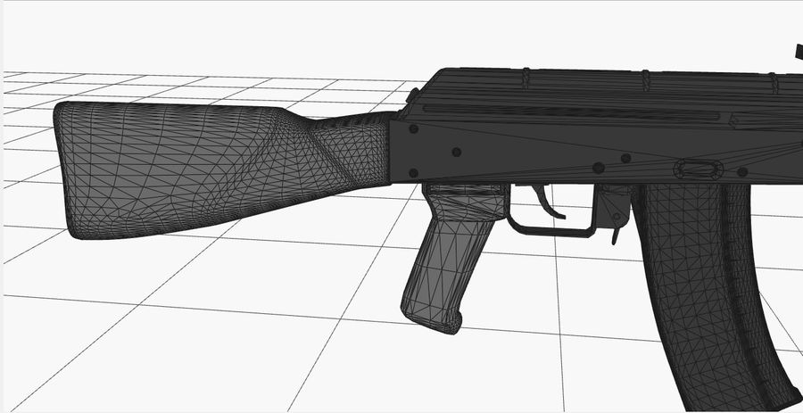 AK 47 royalty-free 3d model - Preview no. 17