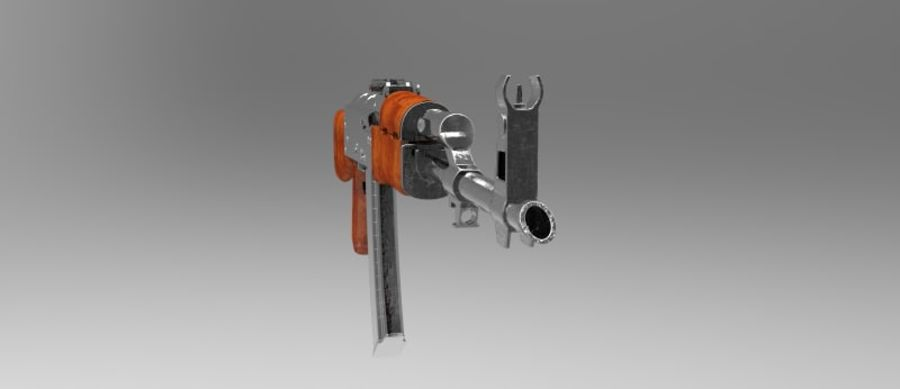 AK 47 royalty-free 3d model - Preview no. 11