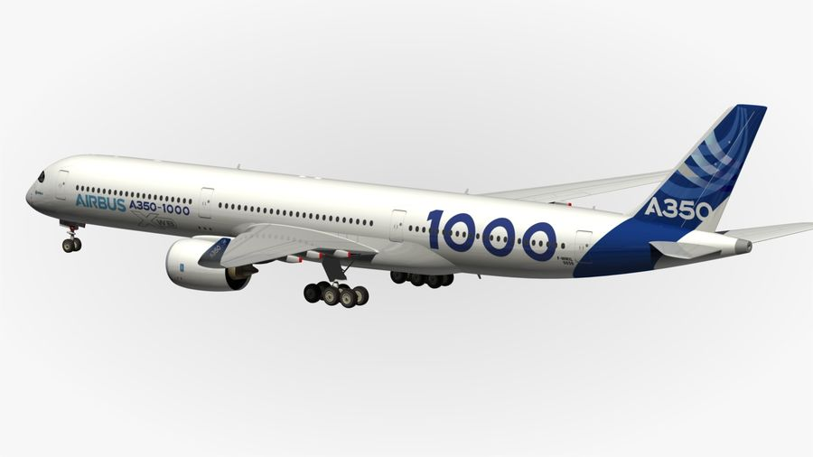 Airbus A350-1000 Xwb royalty-free 3d model - Preview no. 10