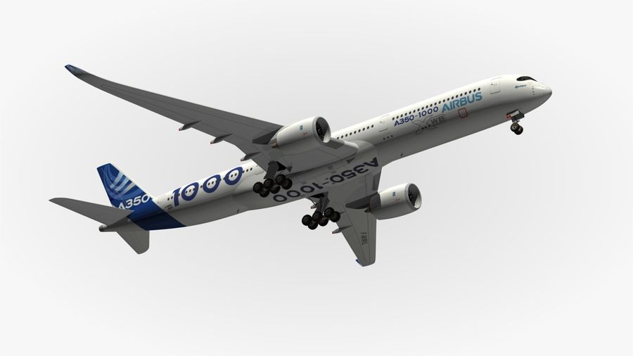 Airbus A350-1000 Xwb royalty-free 3d model - Preview no. 13