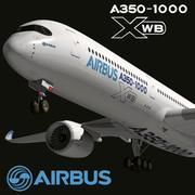 Airbus A350-1000 Xwb 3d model