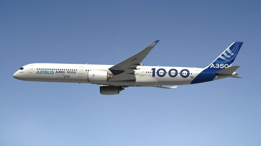 Airbus A350-1000 Xwb royalty-free 3d model - Preview no. 6