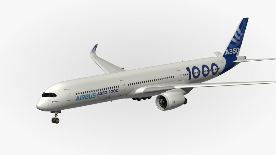 Airbus A350-1000 Xwb royalty-free 3d model - Preview no. 9