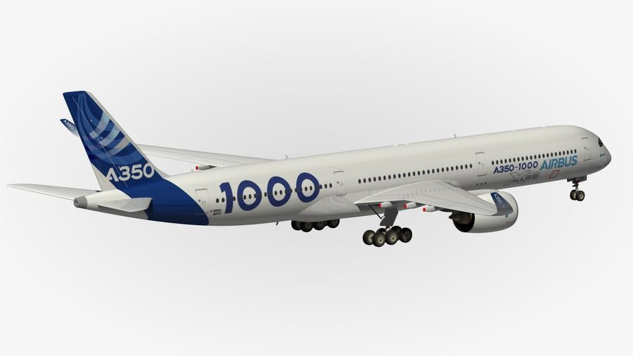 Airbus A350-1000 Xwb royalty-free 3d model - Preview no. 11