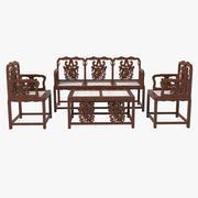 Oriental Furniture Set 3d model