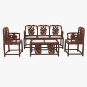Oriental Furniture Set 3d model