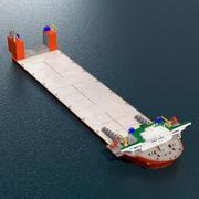 Deck Cargo Ship Blue Marlin 3d model