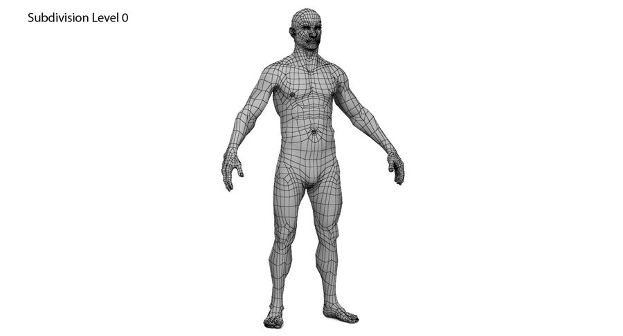 Человек 001 royalty-free 3d model - Preview no. 12