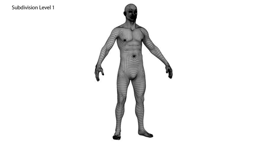 Человек 001 royalty-free 3d model - Preview no. 13