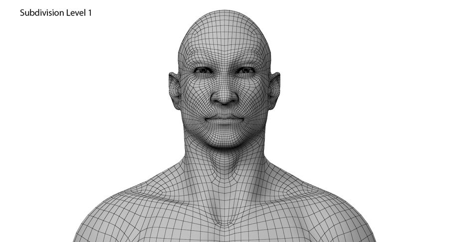 Человек 001 royalty-free 3d model - Preview no. 15