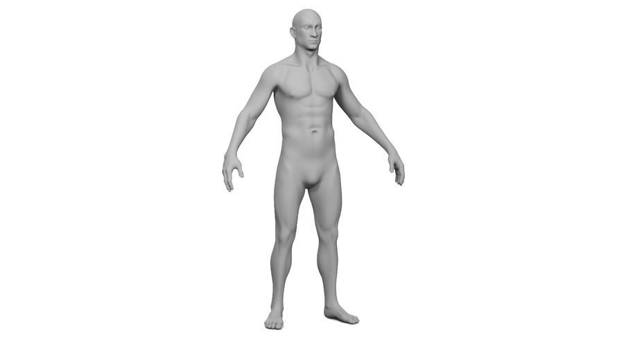 Человек 001 royalty-free 3d model - Preview no. 21