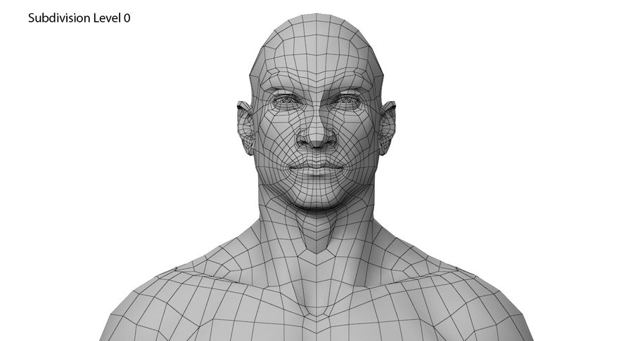 Человек 001 royalty-free 3d model - Preview no. 14
