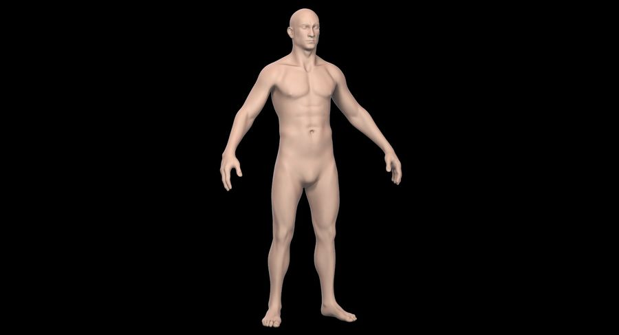 Человек 001 royalty-free 3d model - Preview no. 3