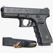 Gun Glock 17 Gen 4 3d model