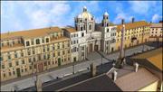 Piazza Navona, Rom. 3d model