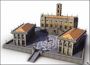 Piazza del Campidoglio, Rom. 3d model