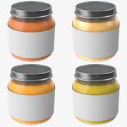 Pots de nourriture pour bébé 3d model