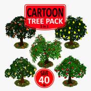 Cartoon Tree Pack 3d model