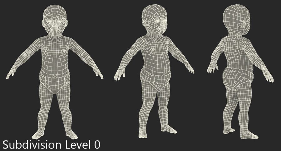 Asian Baby 3D Model royalty-free 3d model - Preview no. 12